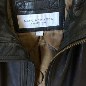 Men's Marc New York Black Leather Jacket